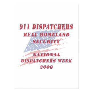 National Dispatchers Week 2008 Postcard