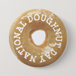 National Doughnut Day Glazed Donut Doughnut Button
