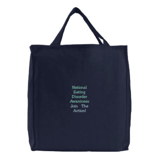 National Eating Disorder Awareness, Join The Ac... Embroidered Bags