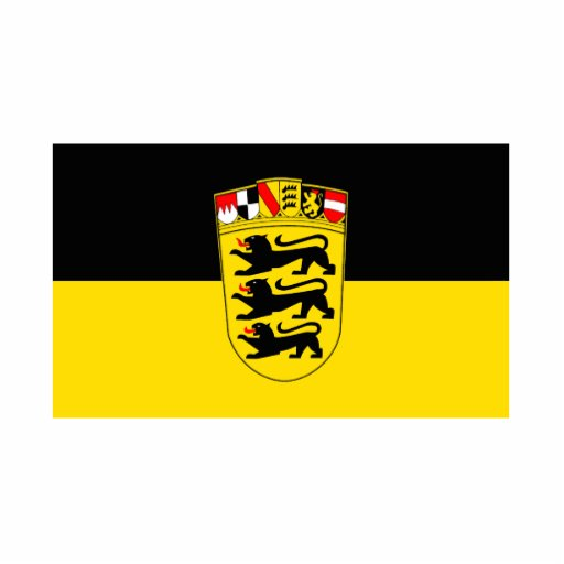 National flag Baden-Wuerttemberg Photo Cut Out