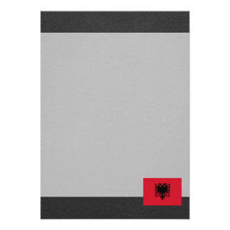 National Flag of Albania 13 Cm X 18 Cm Invitation Card