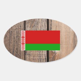 National Flag of Belarus Oval Sticker