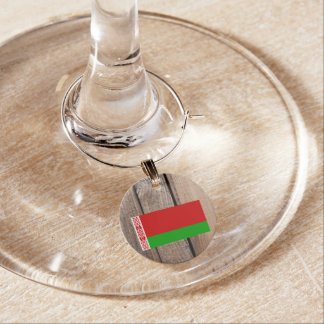 National Flag of Belarus Wine Glass Charm