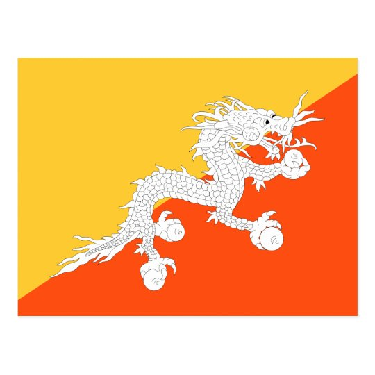 National Flag of Bhutan Postcard
