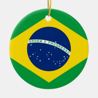 National Flag of Brazil, accurate proportion color Christmas Ornament