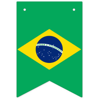 National Flag of Brazil, Party Bunting Banner