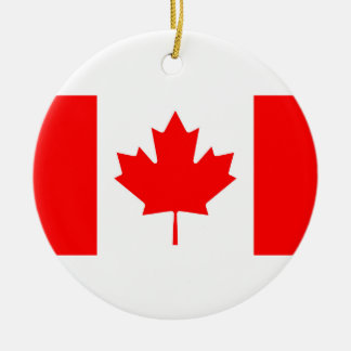 National Flag of Canada, maple leaf, high detailed Christmas Ornament