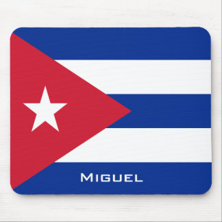 National Flag of Cuba with Your Name Mouse Mat