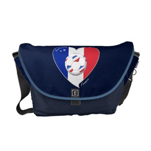 National flag of FRANCE SOCCER of world 2014 Courier Bag