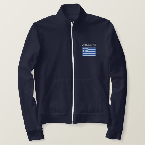 National Flag of Greece Embroidered Jacket