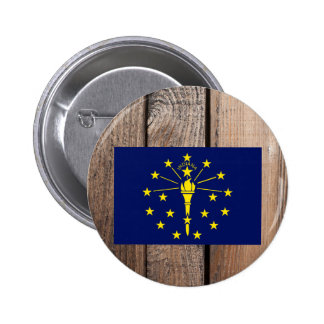 National Flag of Indiana 6 Cm Round Badge