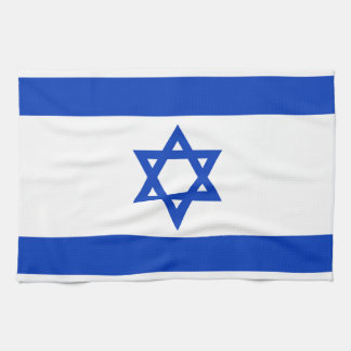 National flag of Israel - Authentic version Tea Towel