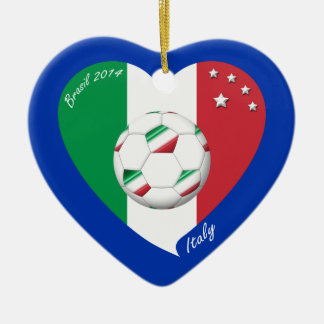 National flag of ITALY SOCCER of world 2014 Christmas Ornament