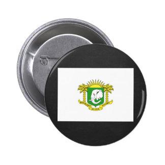 National Flag of Ivory Coast 6 Cm Round Badge
