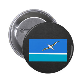 National Flag of Midway Islands 6 Cm Round Badge