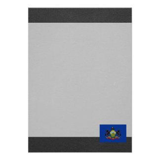National Flag of Pennsylvania 13 Cm X 18 Cm Invitation Card