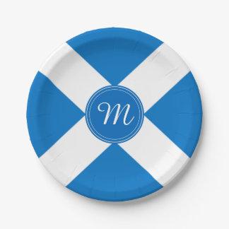 National Flag of Scotland St Andrew's Cross Custom Paper Plate