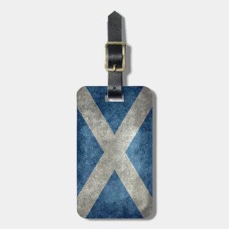 National flag of Scotland - Vintage version Bag Tag