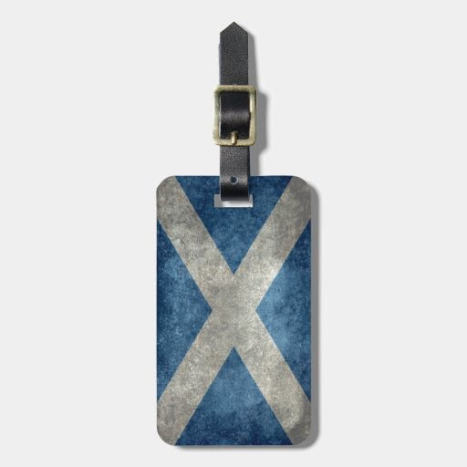 National flag of Scotland - Vintage version Luggage Tag