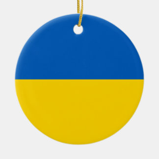 National Flag of Ukraine Round Ceramic Decoration