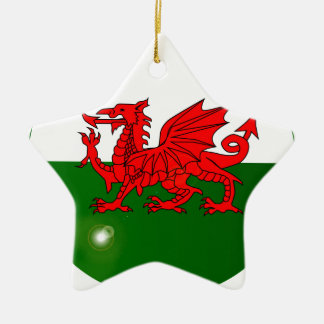 National Flag of Wales Button Christmas Ornament