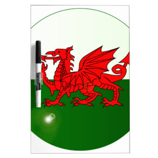 National Flag of Wales Button Dry Erase Board