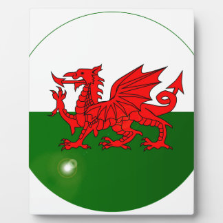 National Flag of Wales Button Plaque