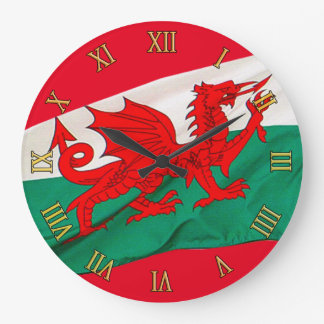 National Flag of Wales, The Red Dragon Patriotic Large Clock