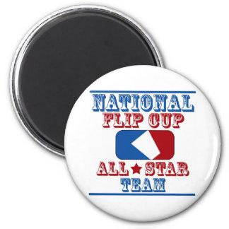 national flip cup champion 6 cm round magnet