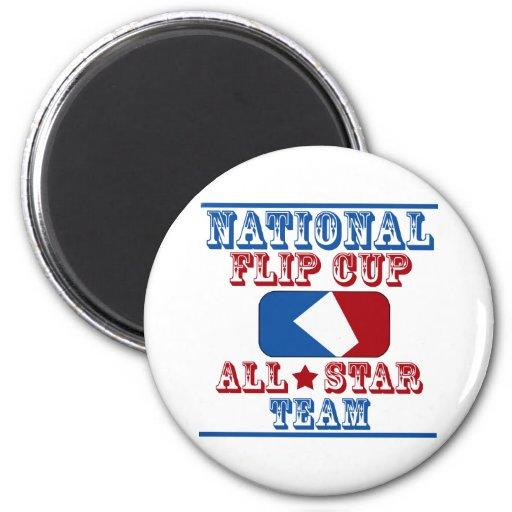 national flip cup champion fridge magnet