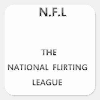 NATIONAL FLIRTING LEAGUE STICKERS