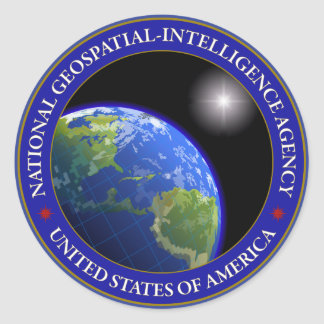 National Geospatial-Intelligence Agency Round Sticker