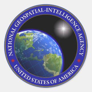 National Geospatial-Intelligence Agency Round Sticker