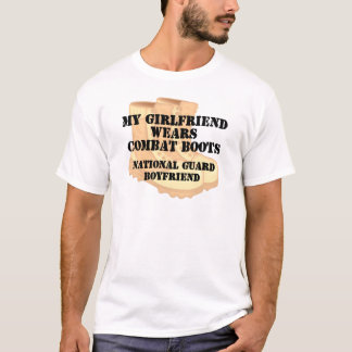 National Guard Boyfriend Desert Combat Boots T-Shirt