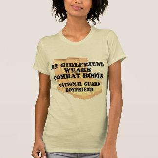 National Guard Boyfriend Desert Combat Boots T-shirt