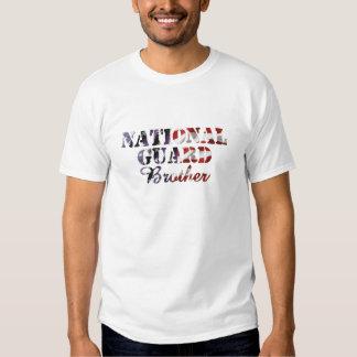 National Guard Brother American Flag Tshirt