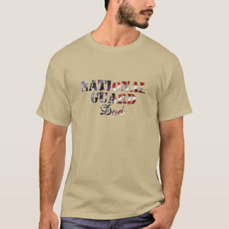 National Guard Dad American Flag T-Shirt
