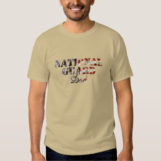 National Guard Dad American Flag Tee Shirt
