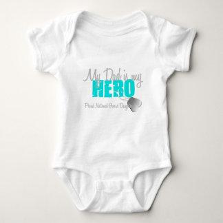 National Guard Daughter Dad is Hero Baby Bodysuit
