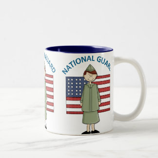National Guard Female Customizable Two-Tone Mug