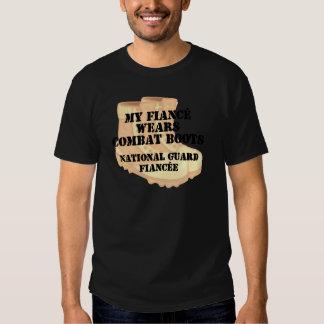 National Guard Fiancee Desert Combat Boots T Shirt