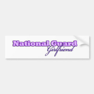 National Guard Girlfriend Bumper Sticker