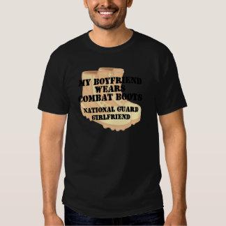National Guard Girlfriend Desert Combat Boots T-shirts