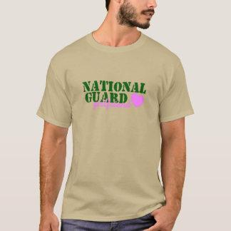 National Guard Girlfriend Green Pink Heart T-Shirt