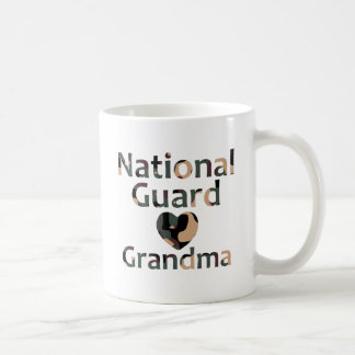 National Guard Grandma Heart Camo Coffee Mug
