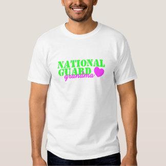 National Guard Grandma Lime Green T-shirts