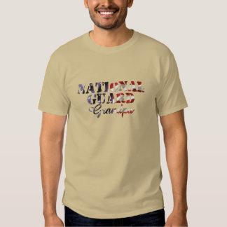 National Guard Grandpa American Flag Shirts