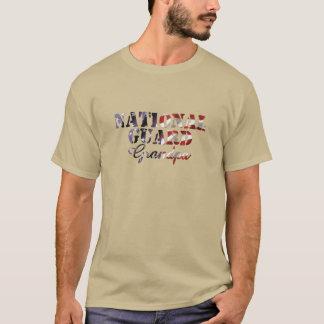National Guard Grandpa American Flag T-Shirt