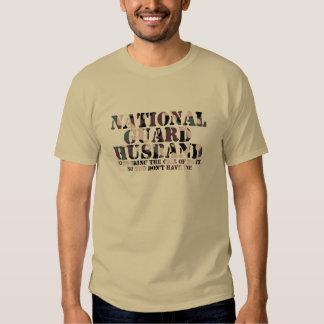 National Guard Husband Answering Call Tee Shirt