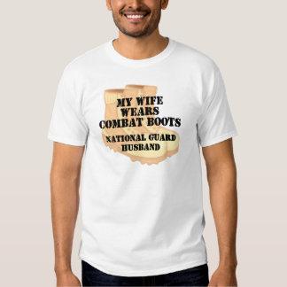 National Guard Husband Desert Combat Boots T-shirts